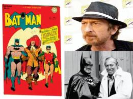 Batman is the secret identity of Bruce Wayne, a billionaire who lives in the fictional Gotham City. Created by Bob Kane and Bill Finger, 'Bat-Man' made his first appearance in Detective Comics #33 (1939) as a two-page story. In the spring of 1940 Batman got his own comic book title. Making their debuts in that issue were Joker and Catwoman — the Caped Crusader's main adversaries. This issue also marked another turning point — Batman's guns were taken away from him. Even in later episodes Batman rarely uses guns. Instead Batman depends upon his superhuman strength, martial arts and intelligence to take on his enemies. In the mid-'60s Batman made his TV debut and took the campy route — extremely stylized and more comedic. It was only in 1986 with Frank Miller that Batman returned to his noir roots (The Dark Knight Returns) and has remained thus in later films and comic books.